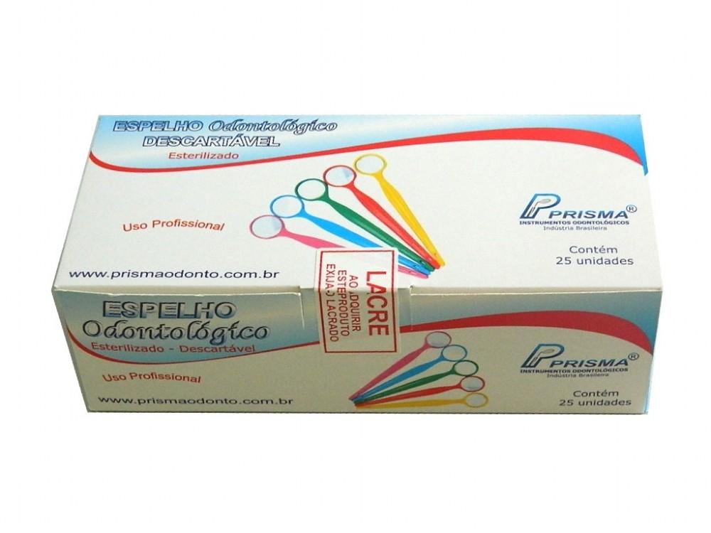 Espelho Odontológico Descartável Esterilizado - PRISMA  - CD Dental