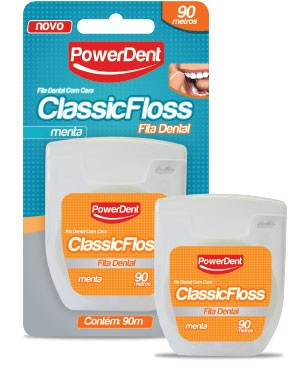 Fita Dental com 90m Menta Classic Floss - POWERDENT  - CD Dental