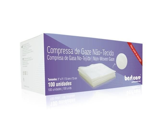 Gaze Não-Tecido - 100 Unidades - BIODINÂMICA  - CD Dental