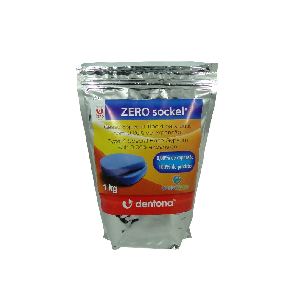 Gesso Pedra Azul Especial Zero Sockel Tipo IV 1kg DENTONA - DENTAL NEWS  - CD Dental