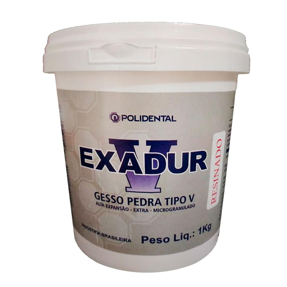 Gesso Pedra Exadur 1kg - POLIDENTAL  - CD Dental