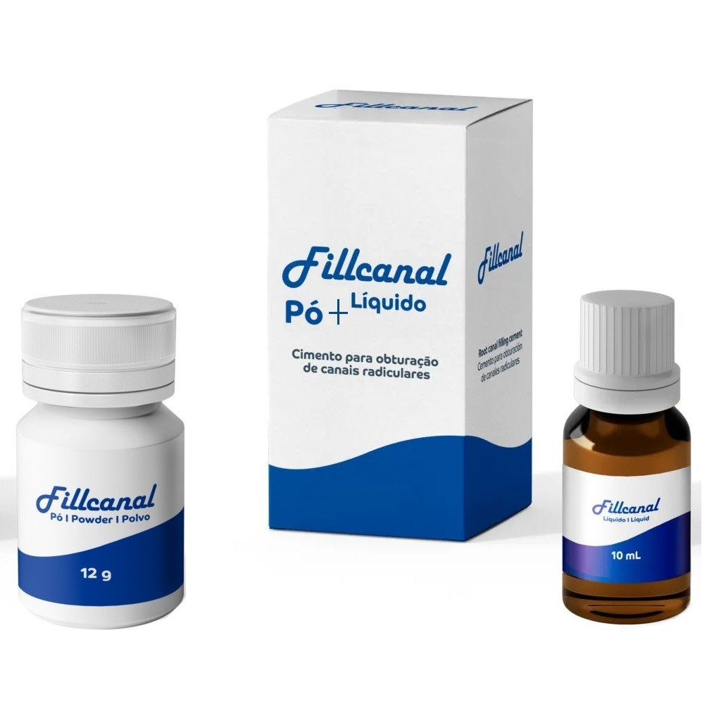 Kit Cimento Endodôntico Fill Canal Pó + Líquido - MAQUIRA  - CD Dental