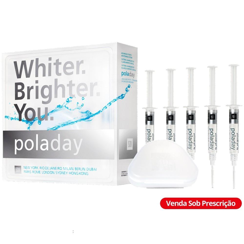 Kit Clareador Pola Day 7,5% com 5 Seringas - SDI  - CD Dental