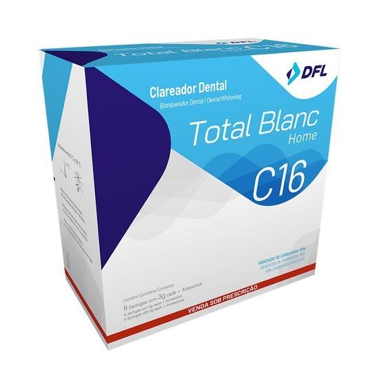 Kit Clareador Total Blanc Home C16% - DFL  - CD Dental
