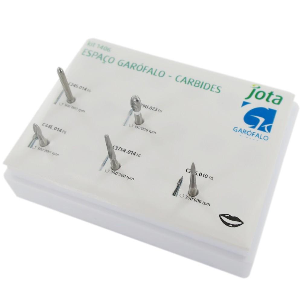 Kit de Brocas Espaço Garófalo Carbides FG 1406 - JOTA  - CD Dental
