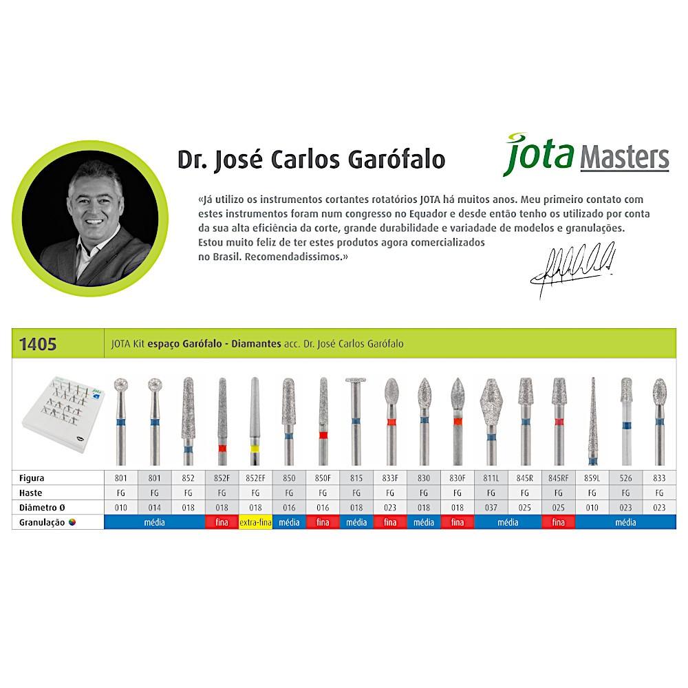 Kit de Pontas Diamantadas Espaço Garófalo Diamantes FG 1405 - JOTA  - CD Dental
