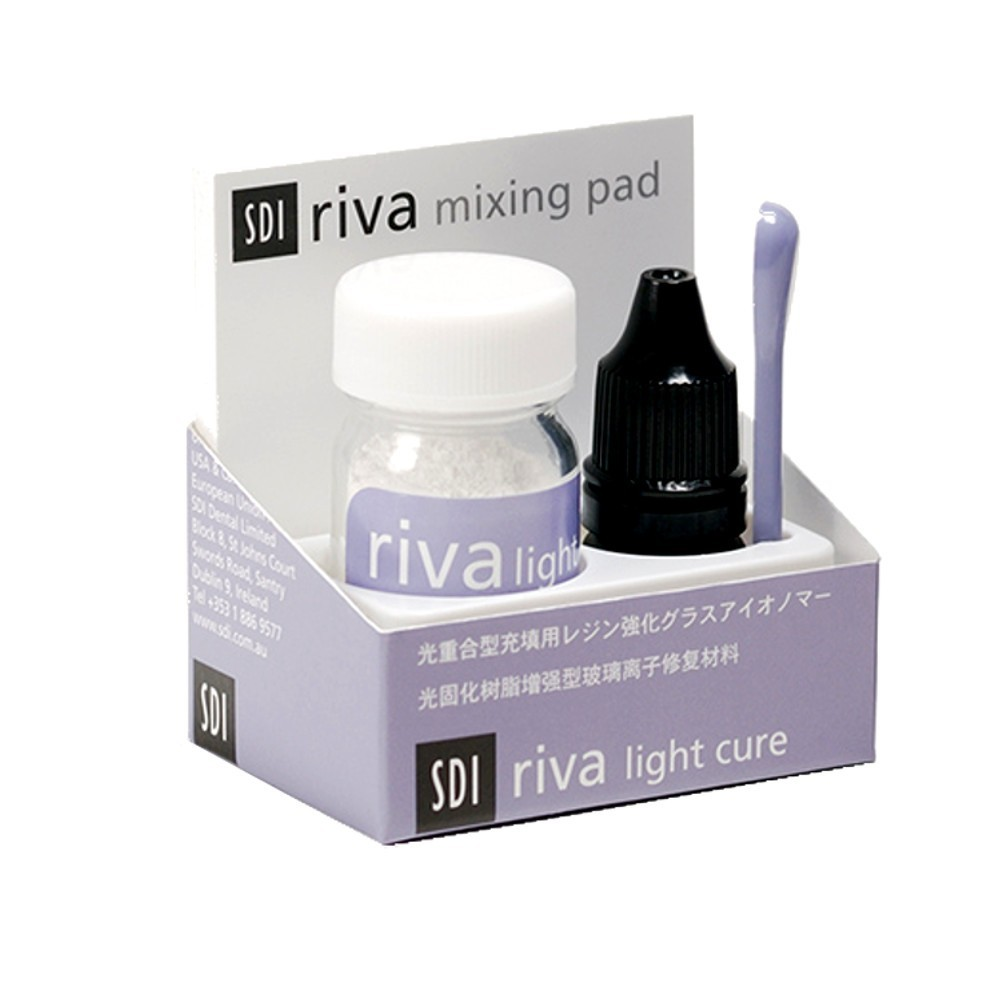 Kit Ionômero de Vidro Restaurador Riva Light Cure A2 Pó + Líquido - SDI  - CD Dental