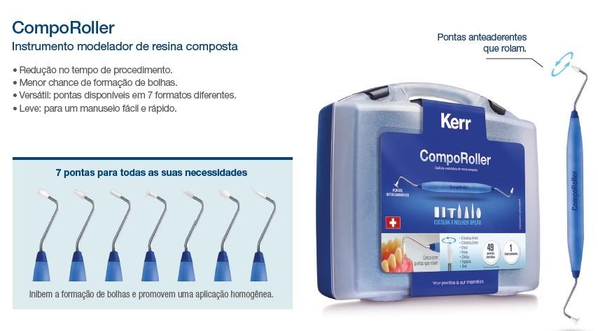 Kit Modelador de Resina CompoRoller - KERR  - CD Dental