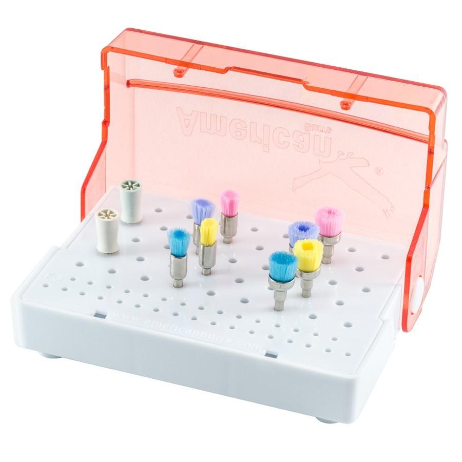 Kit para Profilaxia Color Brush - AMERICAN BURRS  - CD Dental