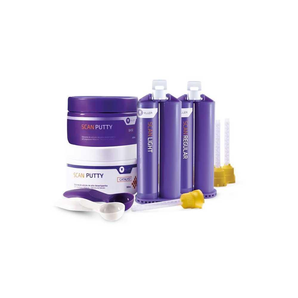 Kit Silicone de Adição (Scan Putty + Scan Light + Scan Regular) - YLLER  - CD Dental