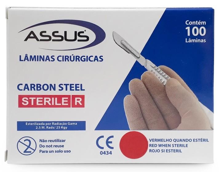 Lâmina de Bisturi 15 N°15(Caixa com 100 Unidades) - ASSUS  - CD Dental