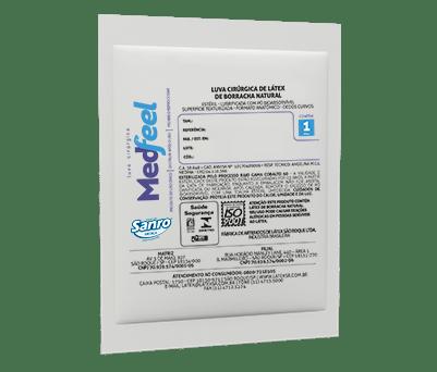 Luva Cirúrgica Estéril de Látex com Pó - MEDFEEL  - CD Dental