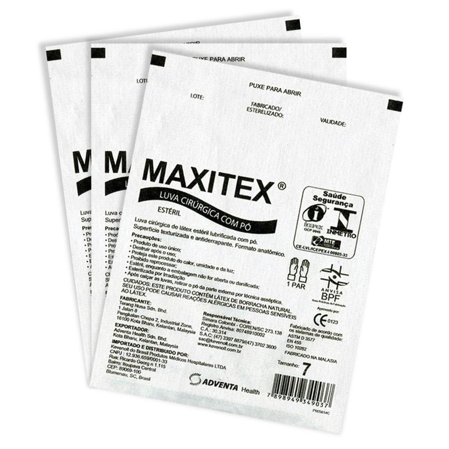 Luva Cirúrgica Estéril - MAXITEX  - CD Dental