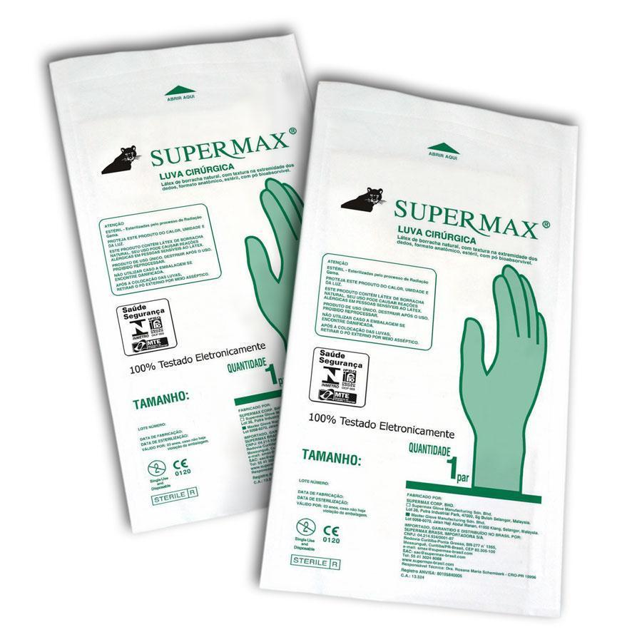 Luva Cirúrgica Estéril Tam. 8 - SUPERMAX  - CD Dental