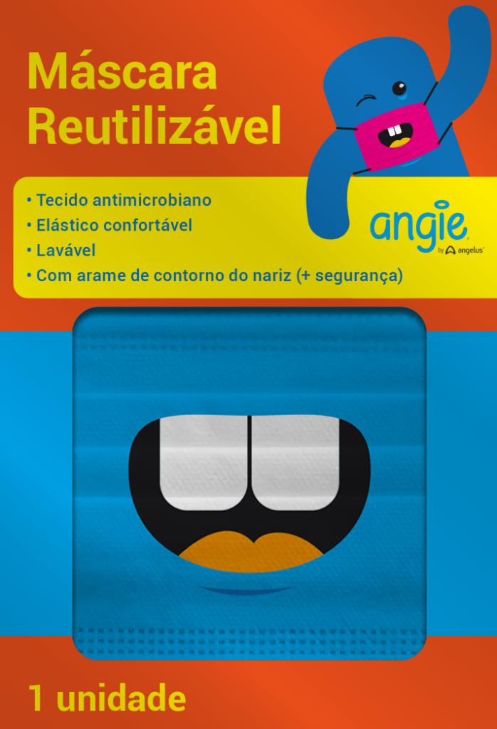 Máscara Infantil Reutilizável - ANGIE BY ANGELUS  - CD Dental