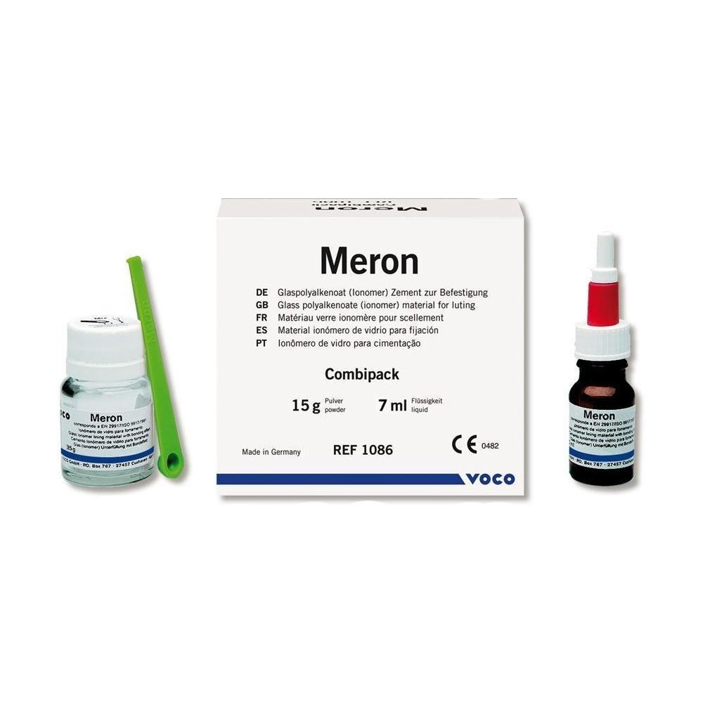 Mini Kit Ionômero de Vidro Para Cimentação Meron 15g + 7ml - VOCO  - CD Dental