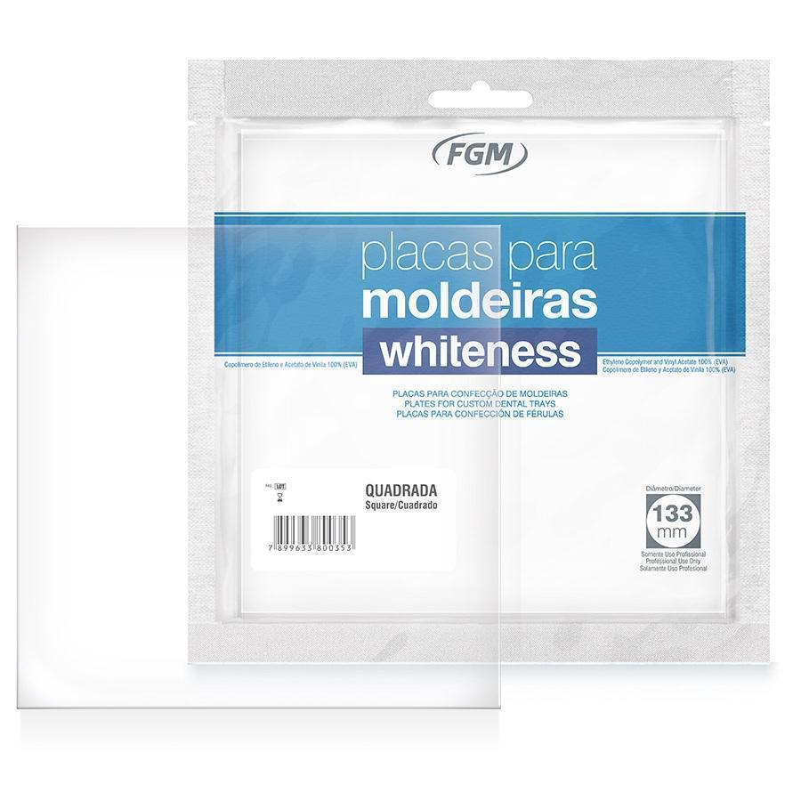 Placa para Moldeira de Clareamento Whiteness Quadrada - FGM  - CD Dental