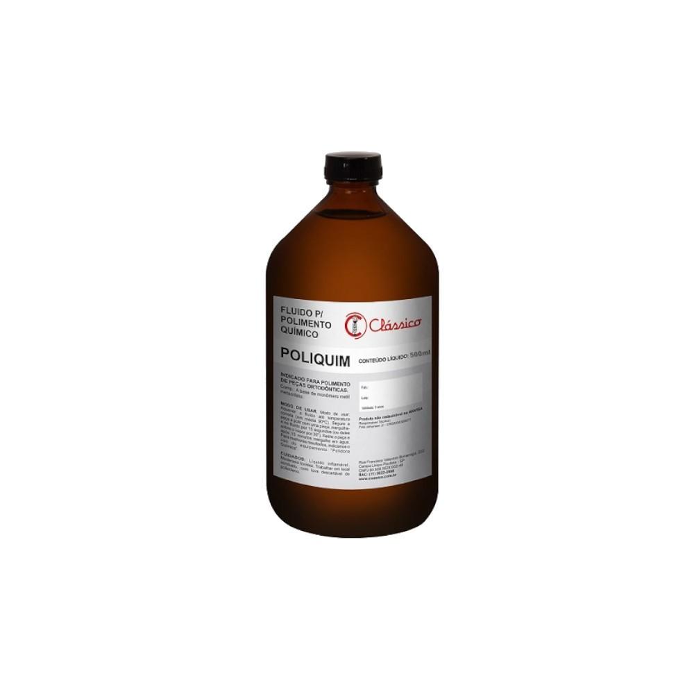 Poliquim Fluído Para Polimento Químico 500ml - CLÁSSICO  - CD Dental