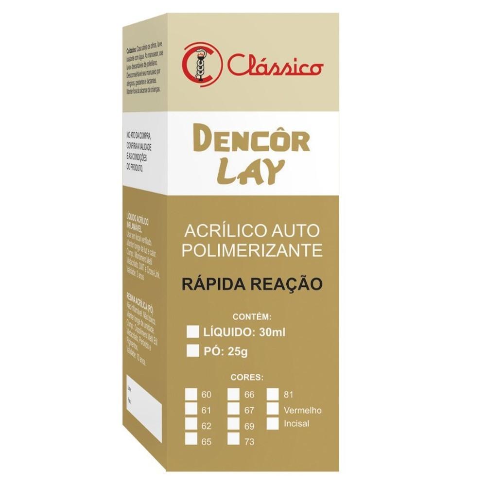Resina Acrílica Dencor Lay Pó 25g - CLASSICO  - CD Dental