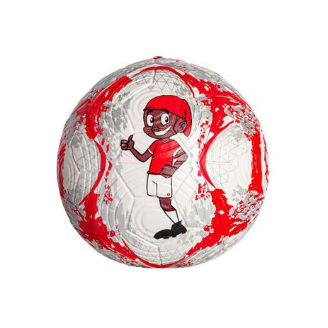 Mini Bola de Futebol Dualt Inter PVC - Vermelho/Branco