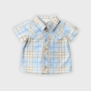 Camisa Bebê Burberry Azul Xadrez 12 meses