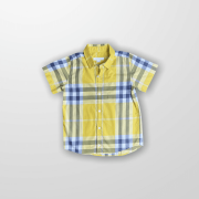 Camisa Xadrez Amarela Burberry 6 Anos