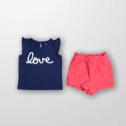Conjunto Shorts Love Janie and Jack 18 Meses
