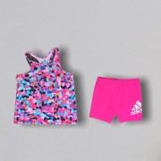 Conjunto Shorts Pink Adidas