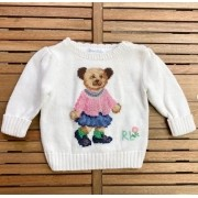 Suéter Urso Ralph Lauren 6meses