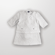 Vestido Off White Janie and Jack 18M - Novo