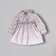 Vestido Rosa Listrado Ralph Lauren