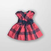 Vestido Xadrez Vermelho Ralph Lauren