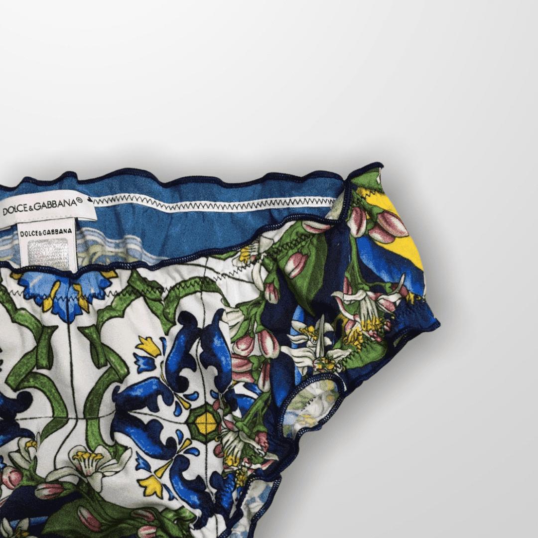 Biquini Estampa Azulejos Dolce & Gabbana