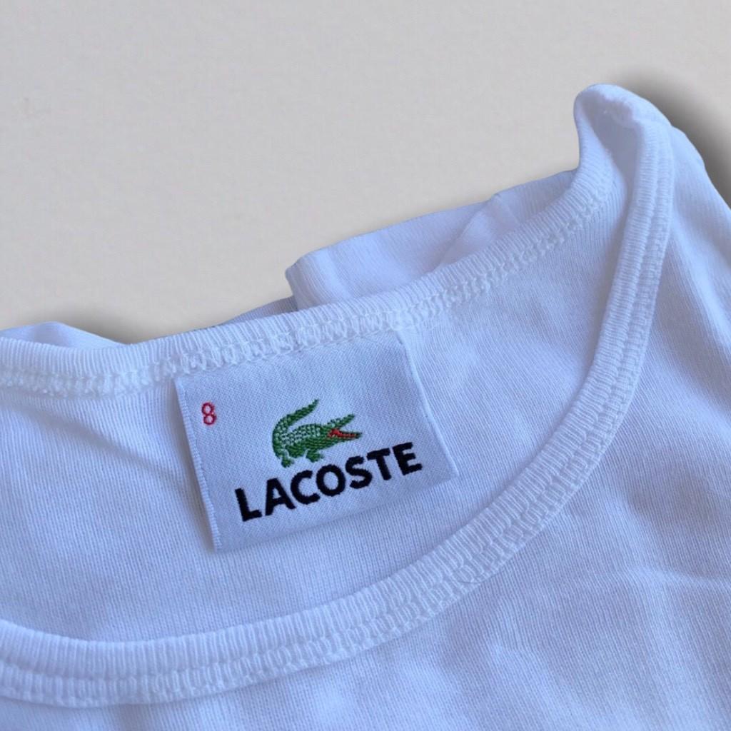 Blusinha Branca Lacoste 8anos