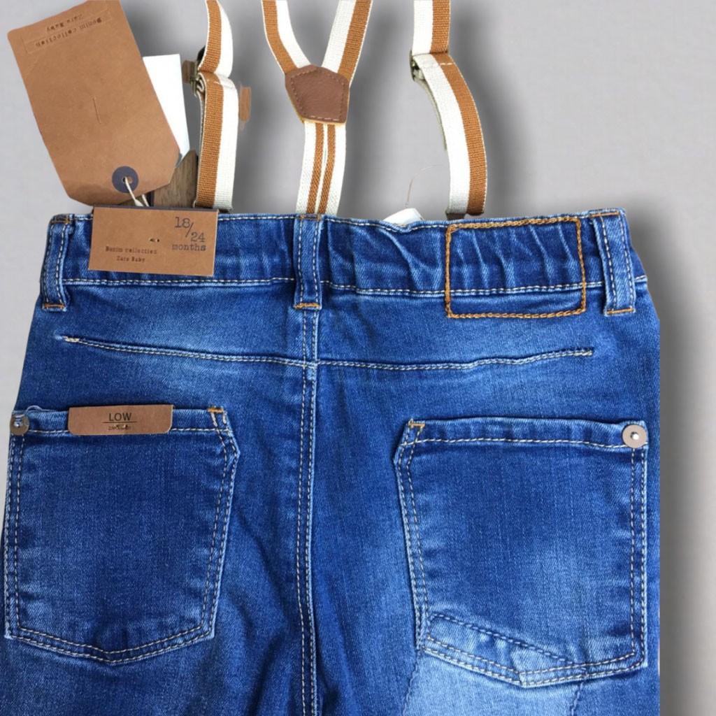 Calça Jeans Suspensórios Zara