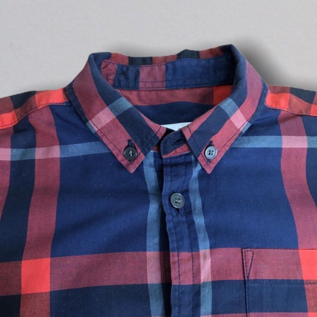 Camisa Vermelha Xadrez Burberry