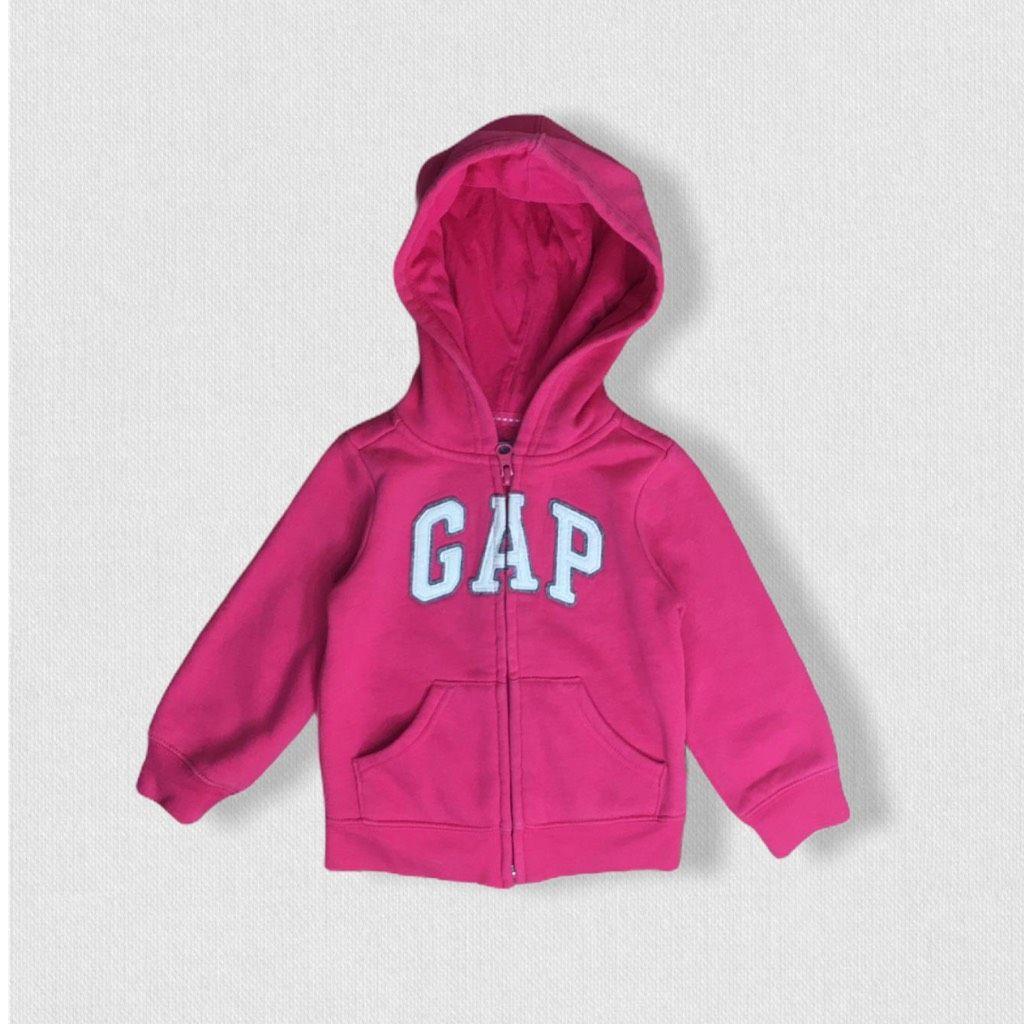 Casaco Moletom Pink Capuz Gap 24meses