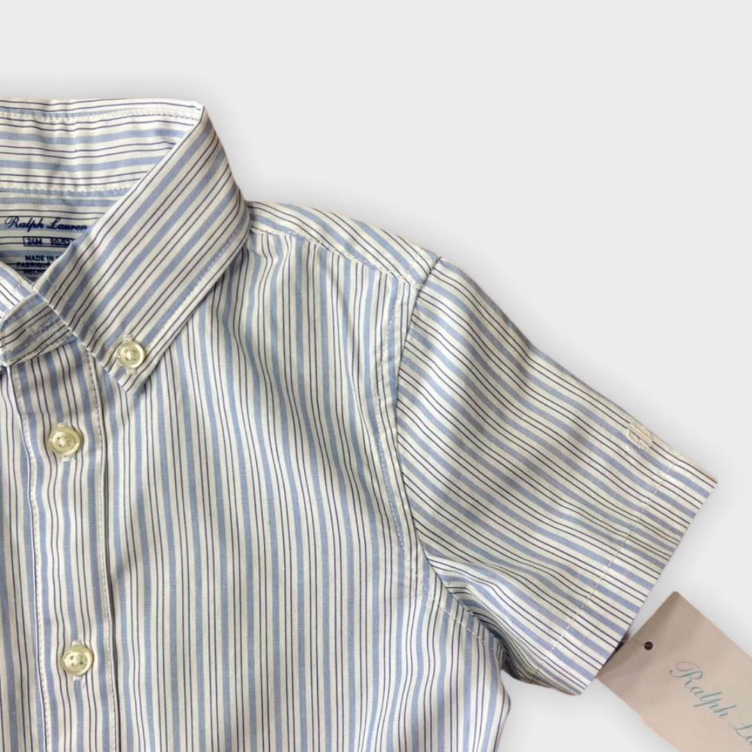 Conjunto Camisa Azul Ralph Lauren 24 meses