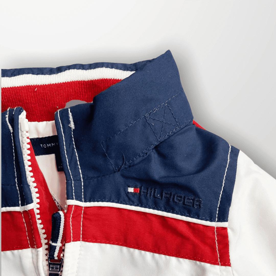 Jaqueta Branca e Marinho Tommy Hilfiger 9 Meses