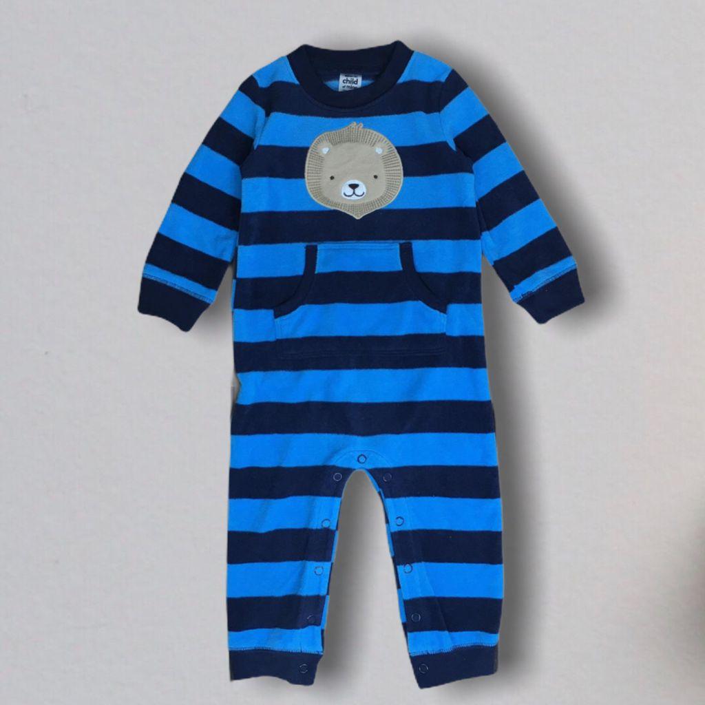 Macacão Azul Fleece Carter´s