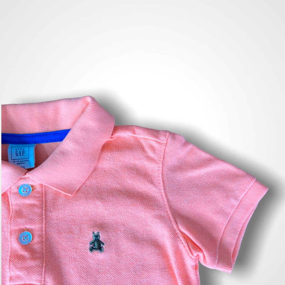 Polo Baby GAP Tam. 12/18 meses Laranja