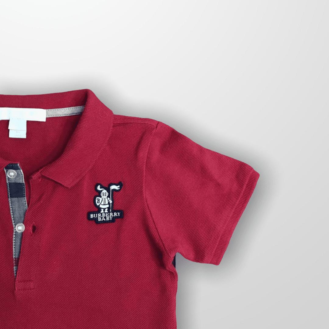 Polo Vermelha Burberry 3T
