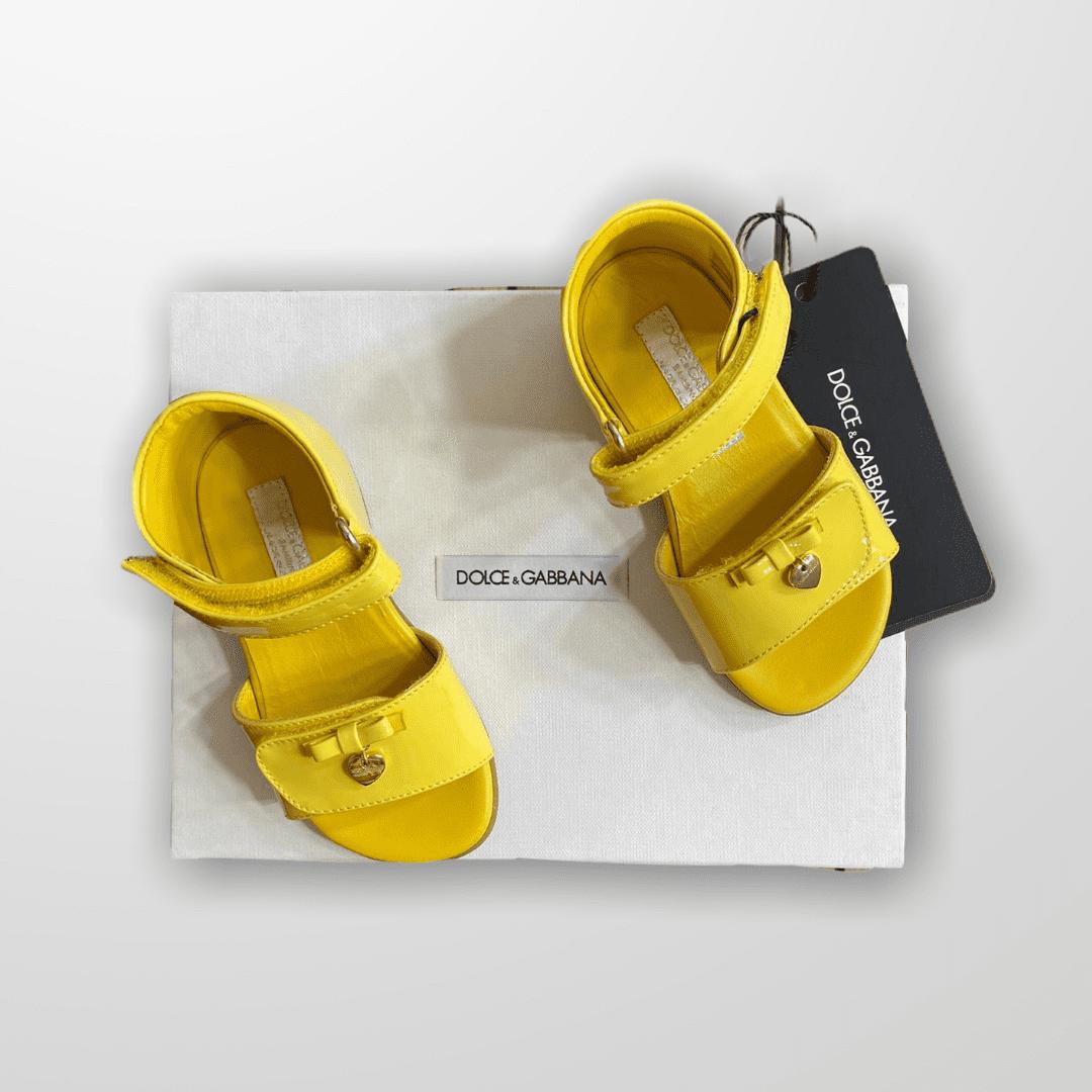 Sandália Verniz Amarela Dolce & Gabbana - Nova