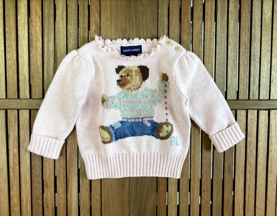 Suéter Urso Ralph Lauren 9meses