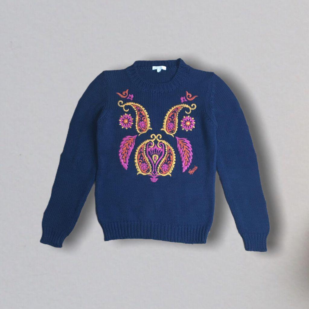 Suéter Tricot Azul Gucci