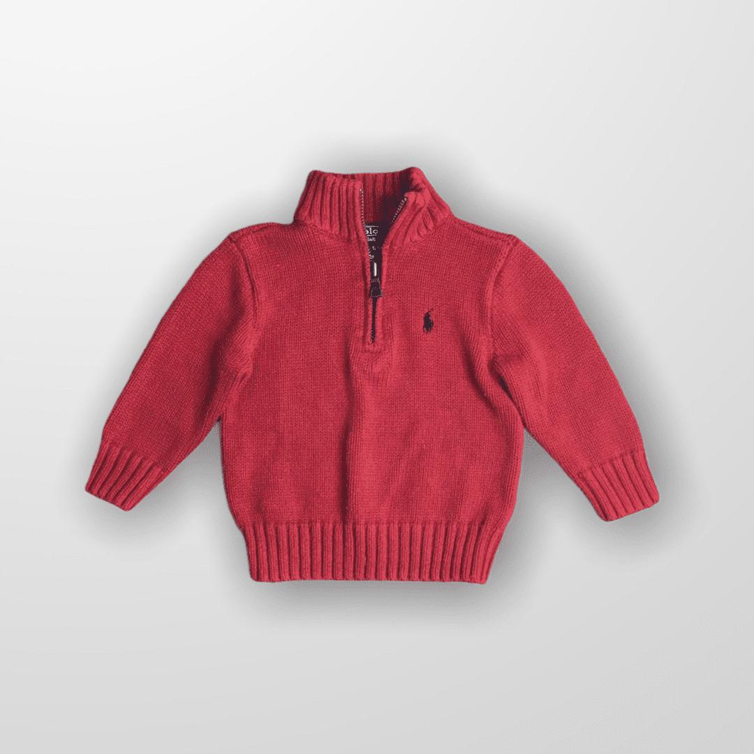 Suéter Tricot Vermelho Ralph Lauren 12 Meses