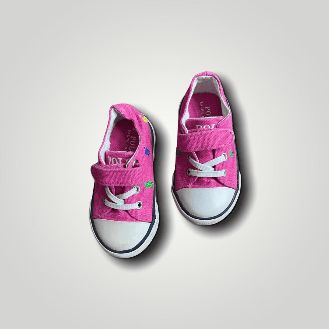 Tênis Pink Velcro Horses Ralph Lauren 20