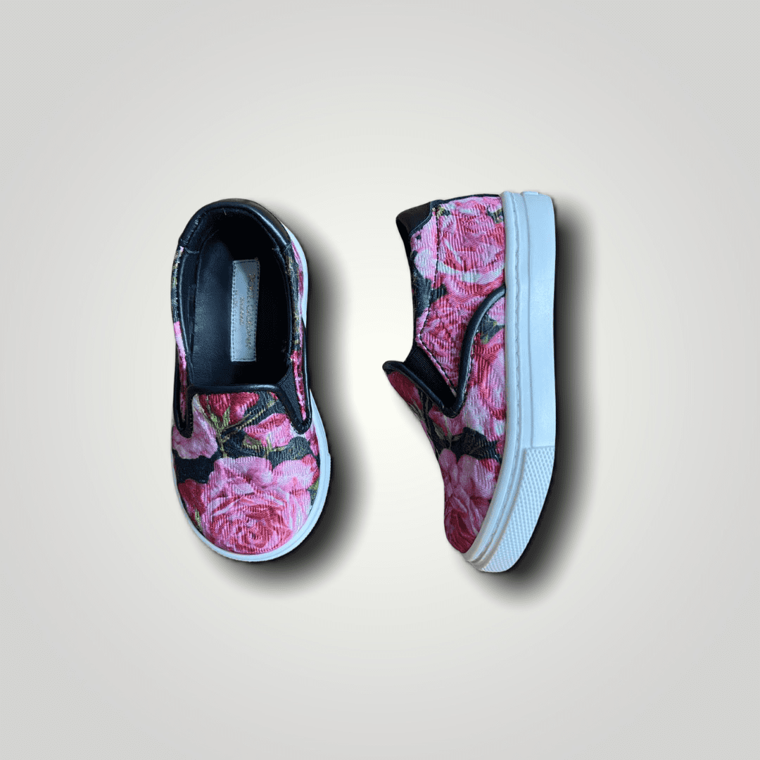 Tênis Slip On Floral Dolce & Gabbana 20