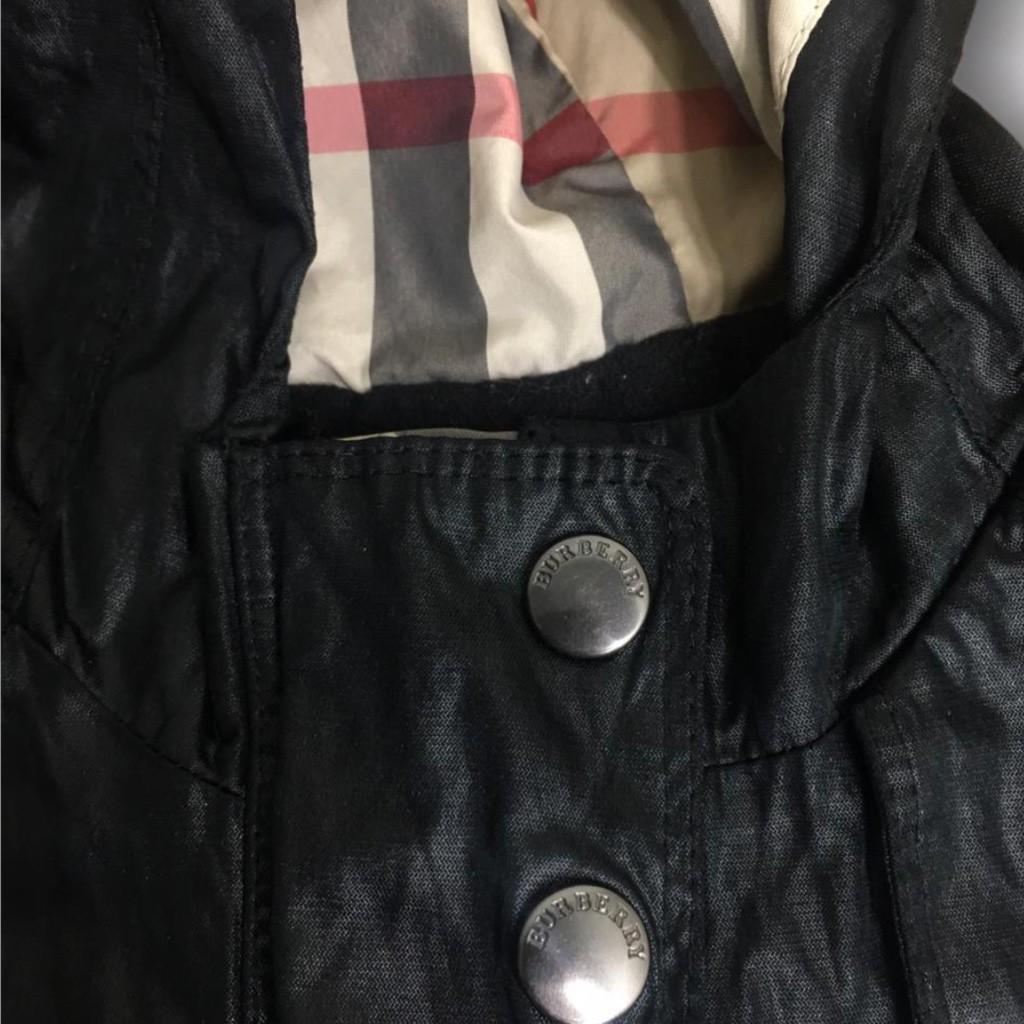 Trench Coat Preto Xadrez Burberry