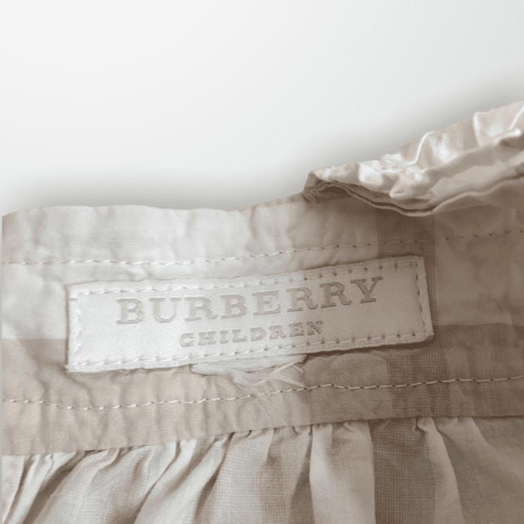 Vestido Bege Xadrez Burberry 12 Meses
